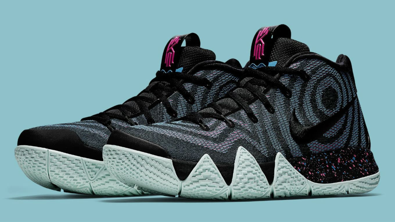 the latest b6919 4981f Nike Kyrie 4 Black Laser Fuchsia Release Date 943807-007 ...