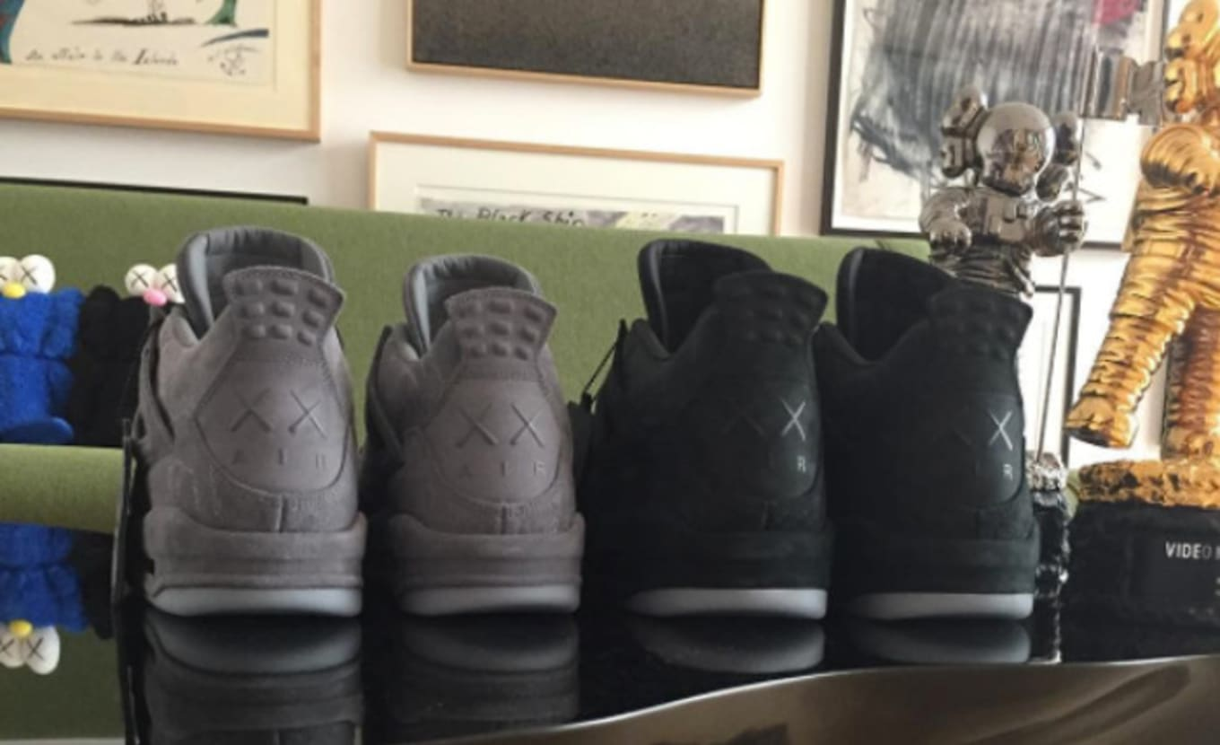 43ba0d7badacb3 Is Kaws Teasing His Next Air Jordan Collab  Another look at the black pair.