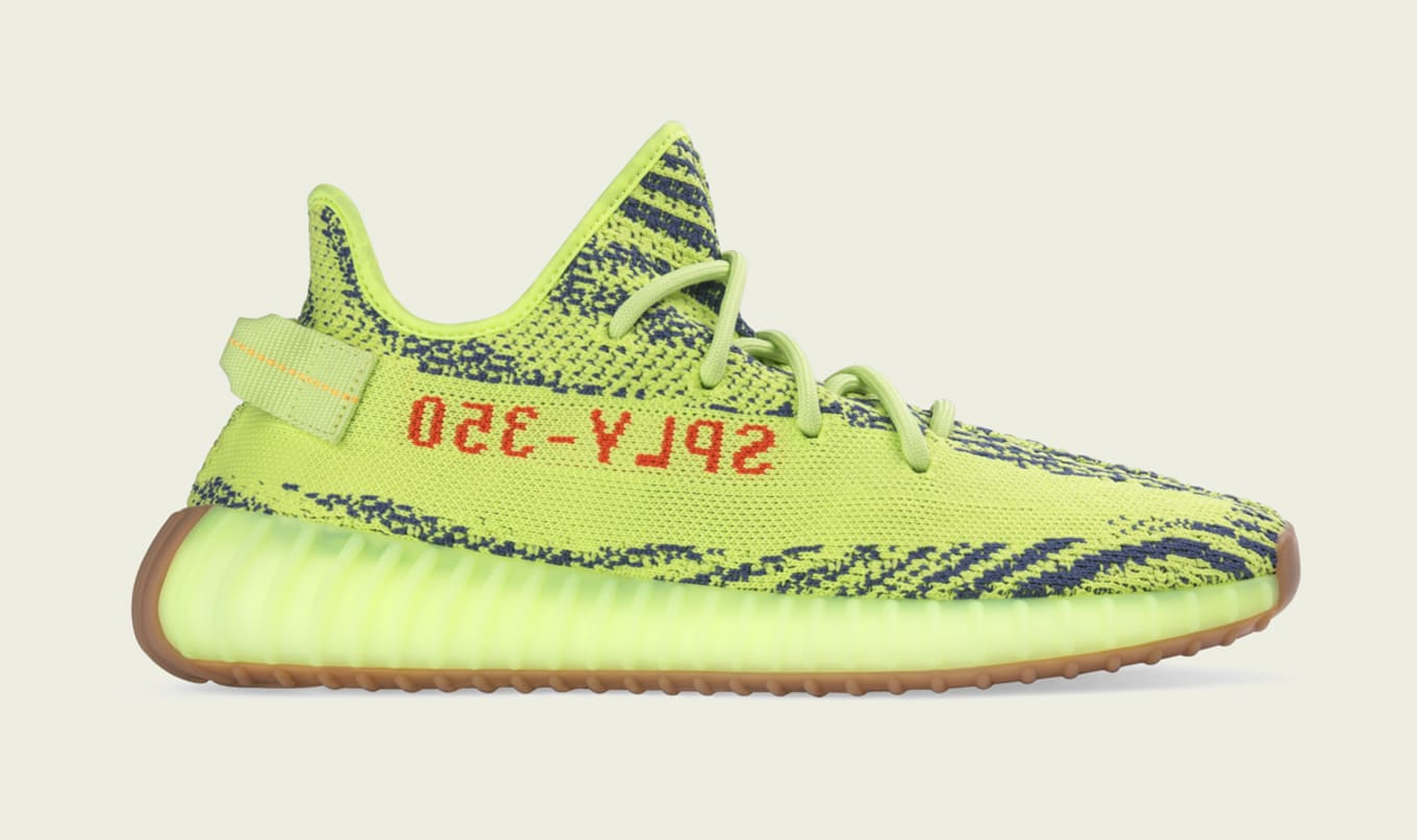 1ac19b565f3ad4 Where to Buy Semi Frozen Yellow Adidas Yeezy Boost