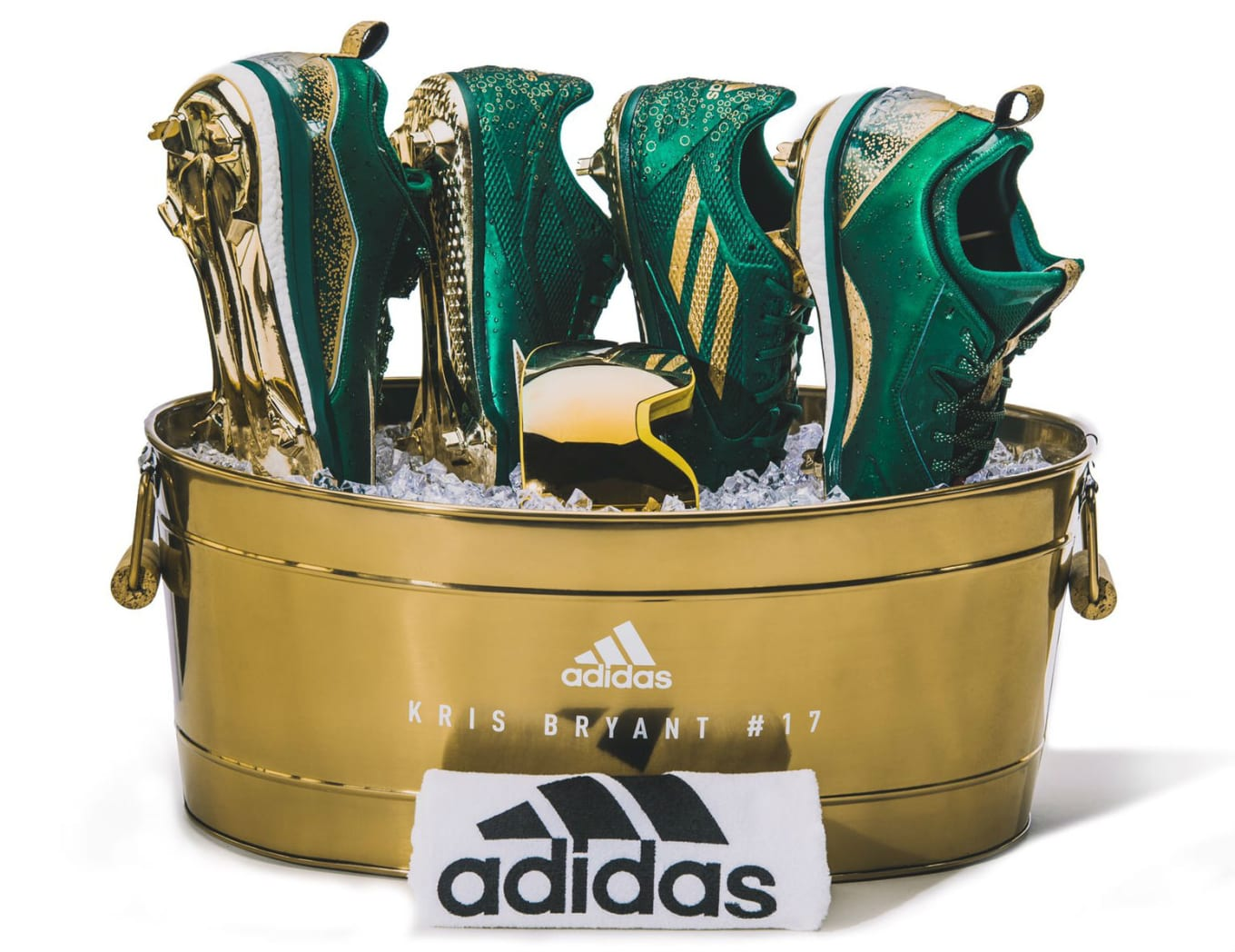 af2804f5f3ec Adidas Is Sending Kris Bryant to the Playoffs in Champagne Cleats