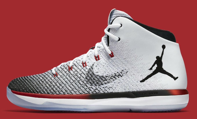 brand new 3fe65 87dbd Air Jordan 31 Black Toe White Black Red Release Date 845037-108