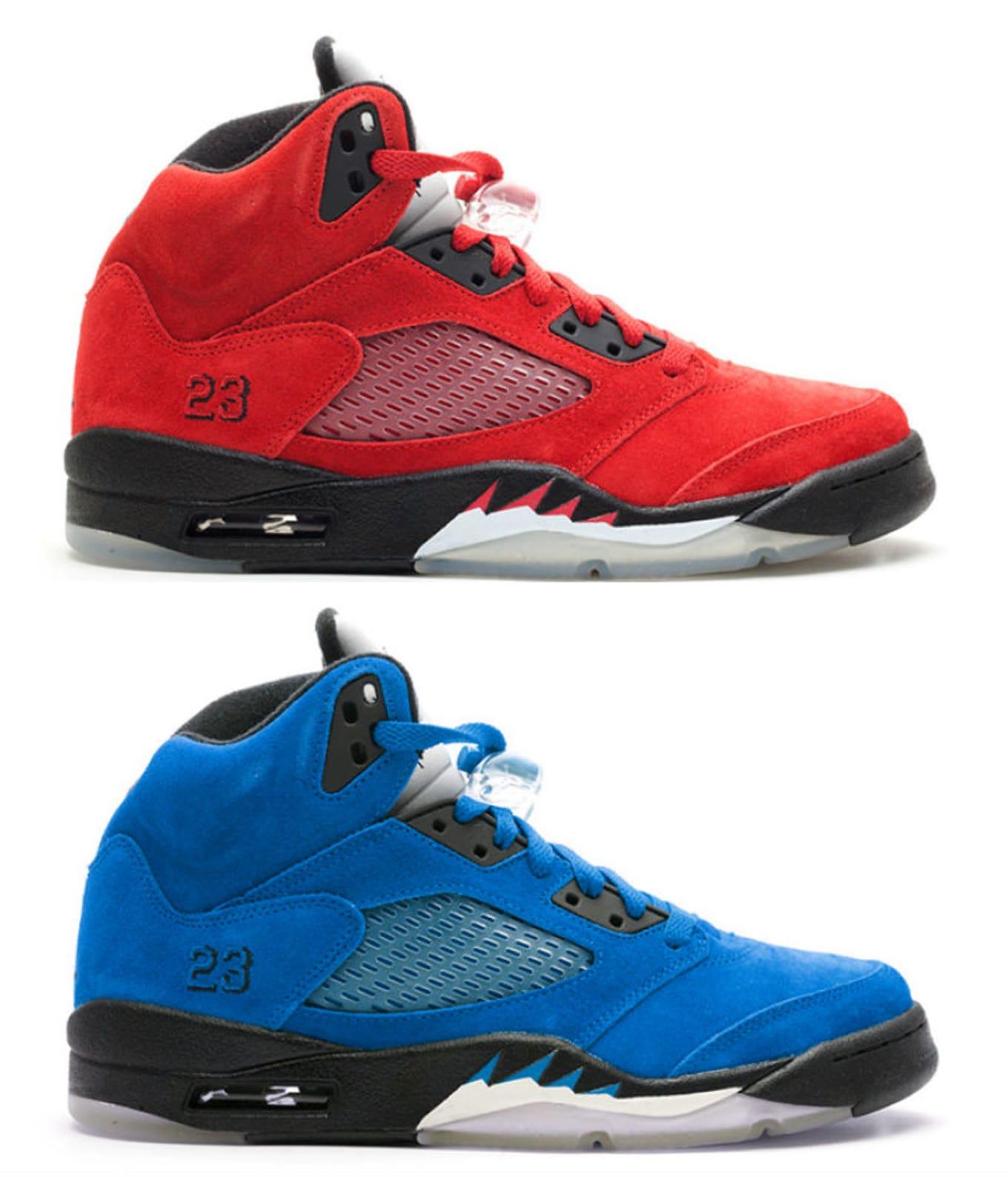 c4707bf963ce Air Jordan 5 Retro Red   Blue Suede
