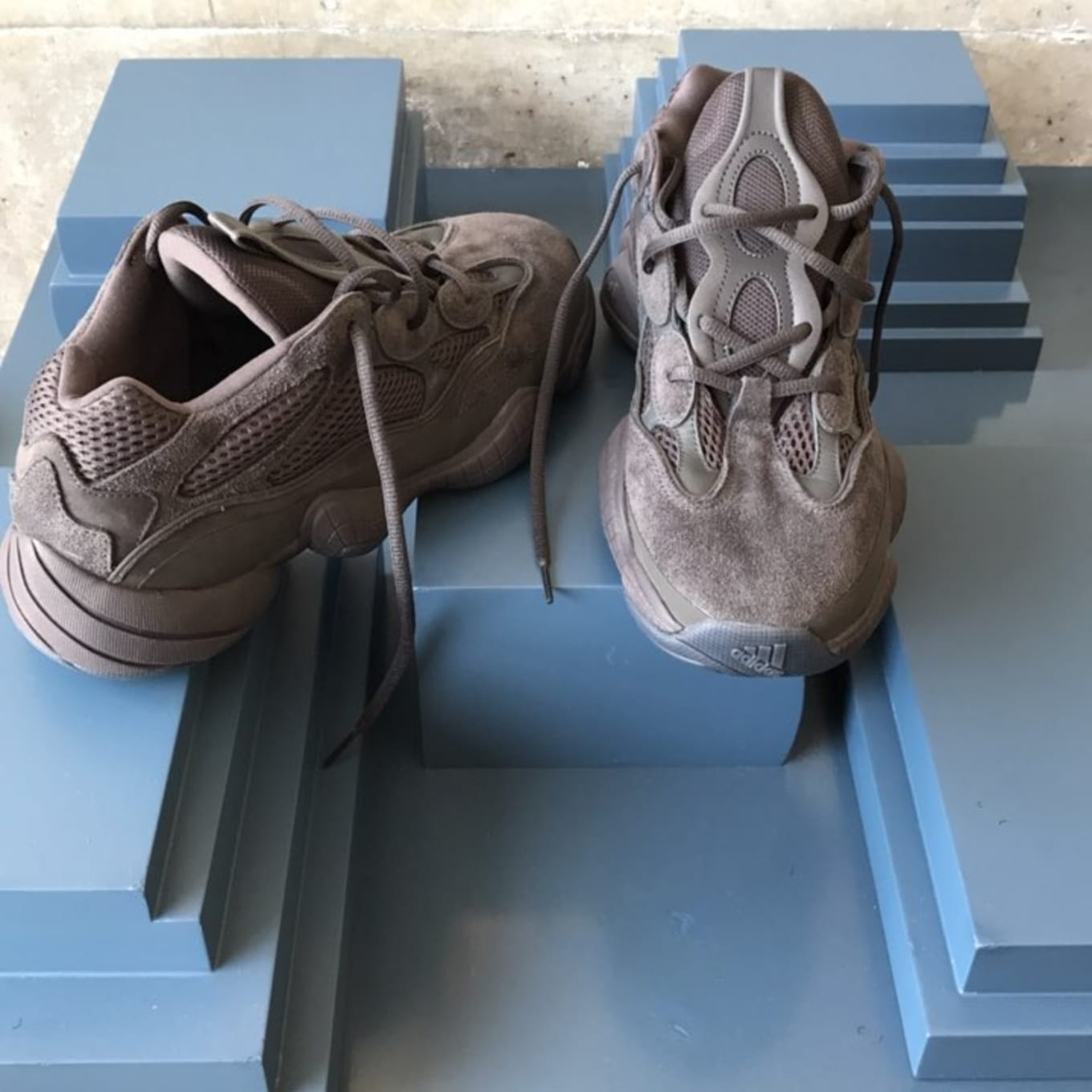 8d3d11a7cc09c New Yeezy Runners in Grey Suede Surface