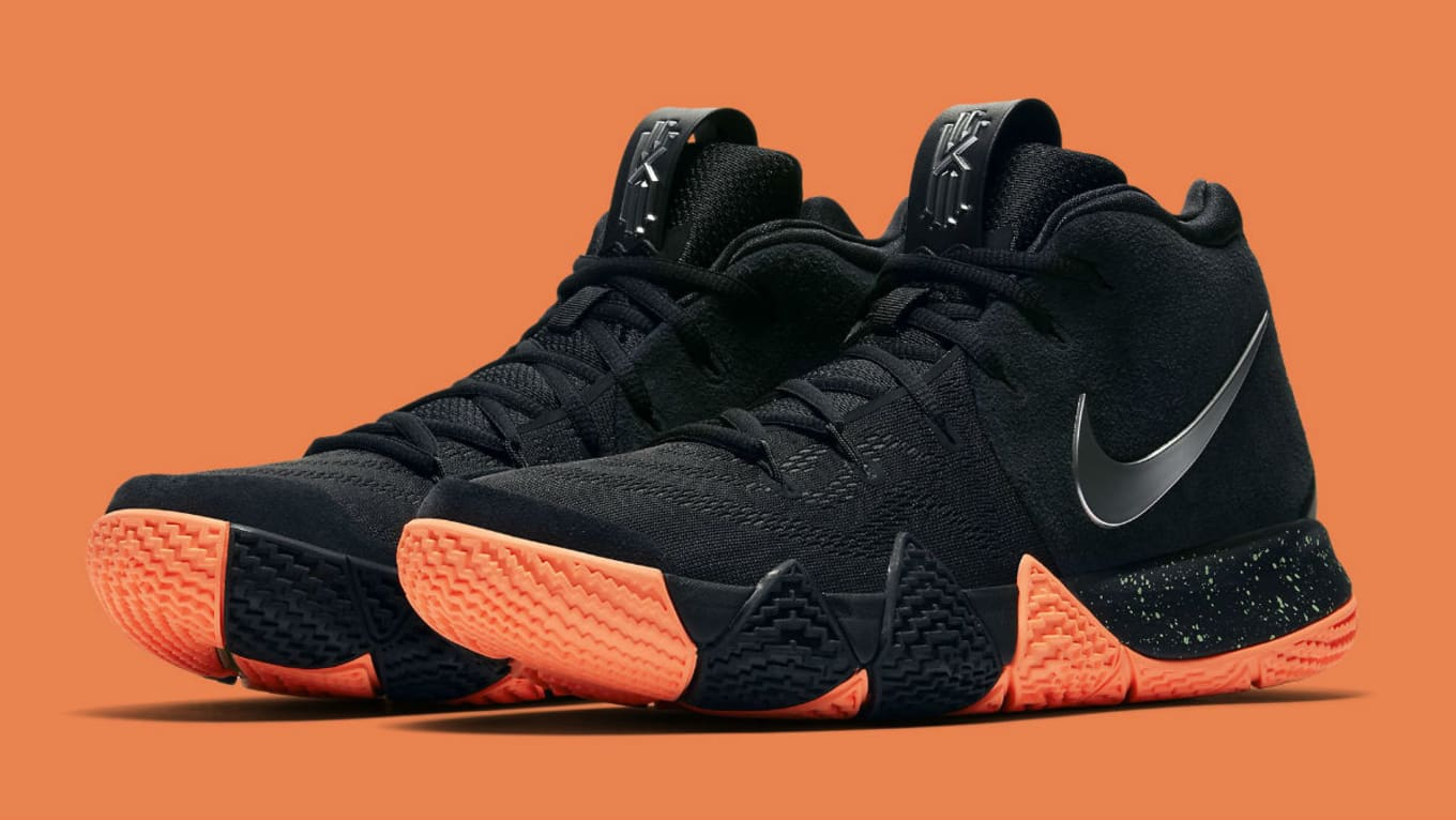 buy online 48b5b 05033 Nike Kyrie 4 Black/Silver-Orange Release Date 943806-010 ...