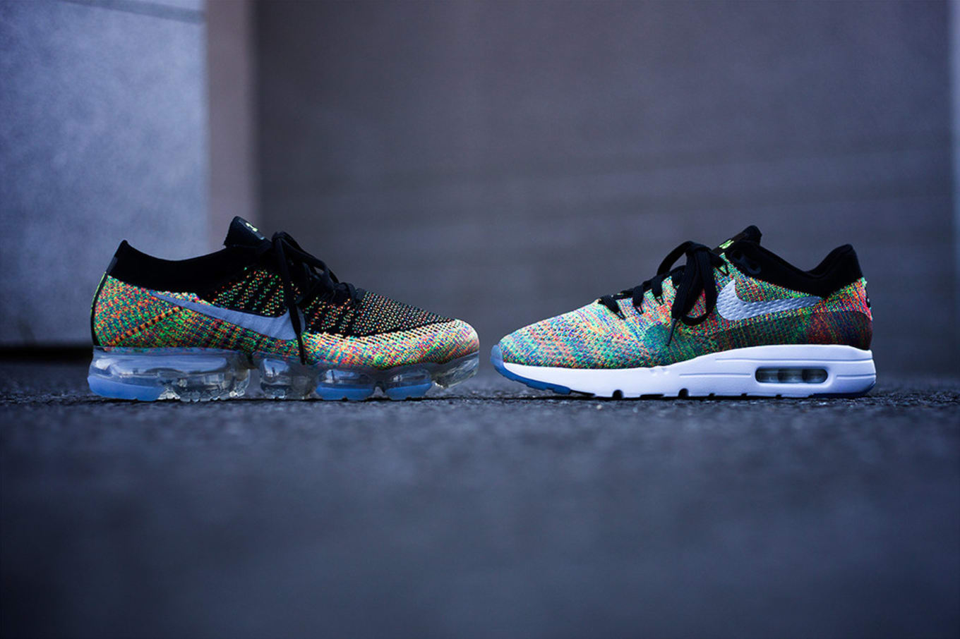 Multicolor Flyknit Options for Nike s VaporMax and Air Max 1 67d56135f