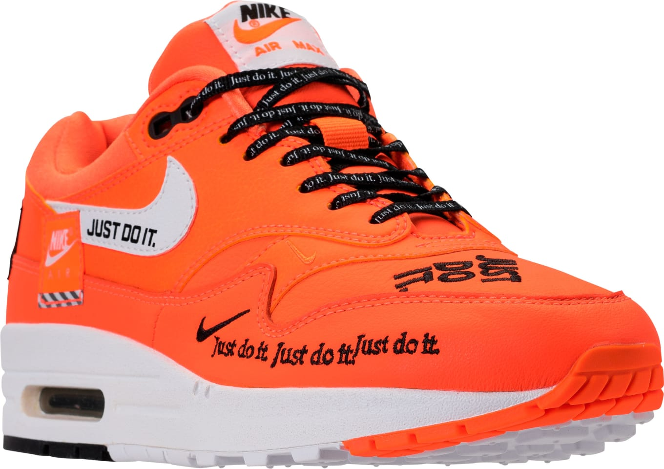 half price really comfortable factory price Nike Air Max 1 Just Do It Orange Release Date 917691-800 ...