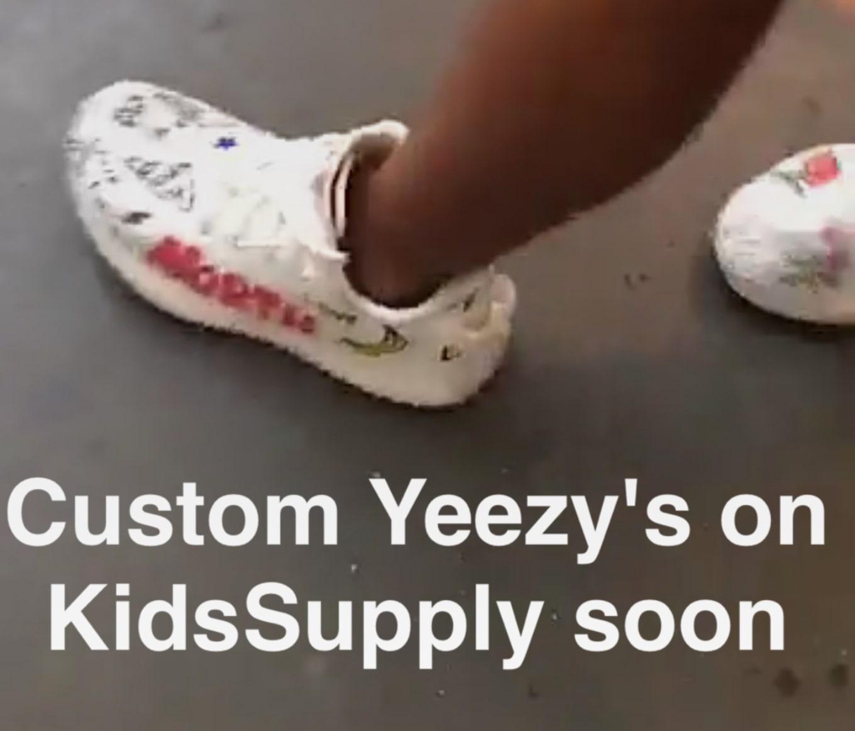 d1f1bec2c Kanye West Custom Adidas Yeezy Boost Kids