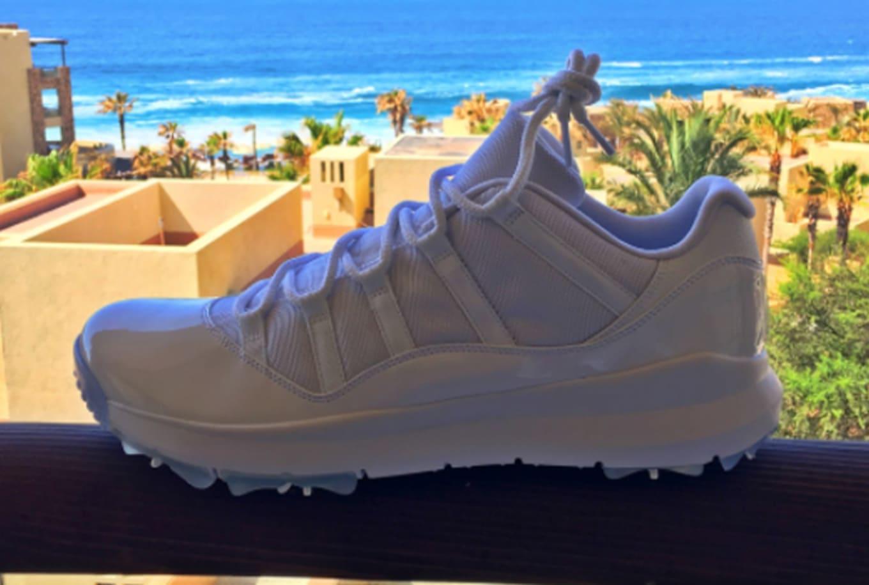 e5de1c1589ad White Air Jordan 11 Low Golf Shoes Rip Hamilton