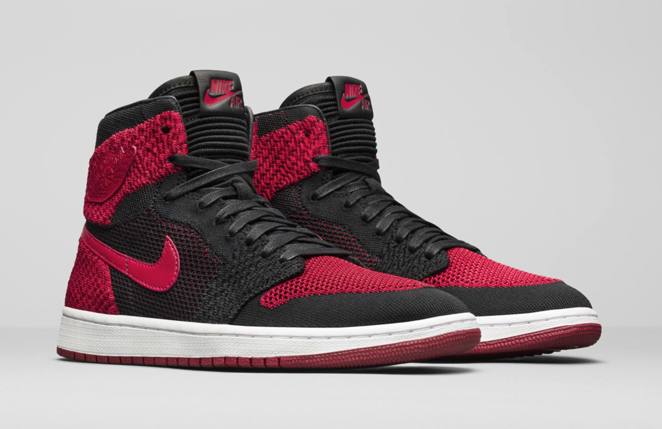 1737b5da38c1  Banned  Air Jordan 1s Return With Flyknit. Jordan Brand officially unveils  the sneaker at last.
