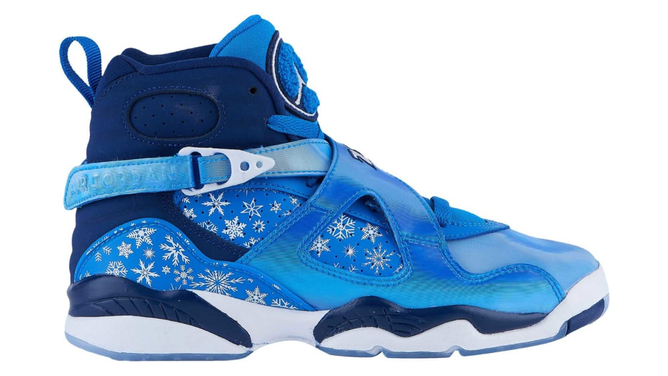 628c5a23dcf349 Graphic-printed Air Jordan 8 set for the holiday season.