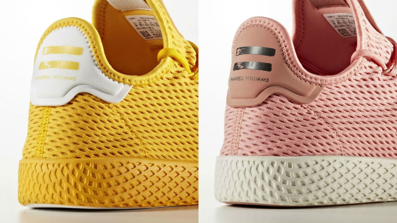 84f04736a Pharrell Williams x Adidas Tennis Hu Summer 2017 Colorways