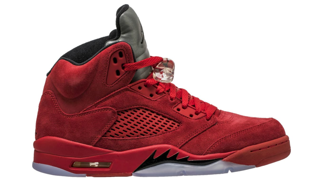 129986d9809 The  Red Suede  Air Jordan 5 Retro Is Less Than a Month Away. See the  latest shots of the upcoming release.