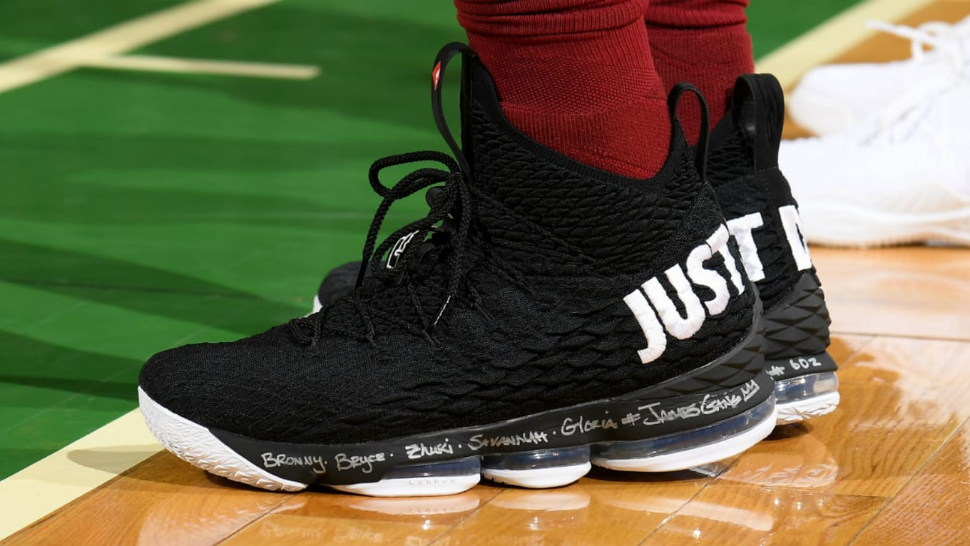 competitive price 35fc0 6b1b3 LeBron James Nike LeBron 15 Just Do It PE | Sole Collector