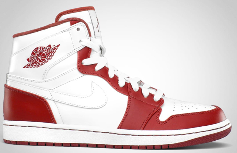 reputable site c763e 4c022 Air Jordan 1 High Retro White White Varsity Red