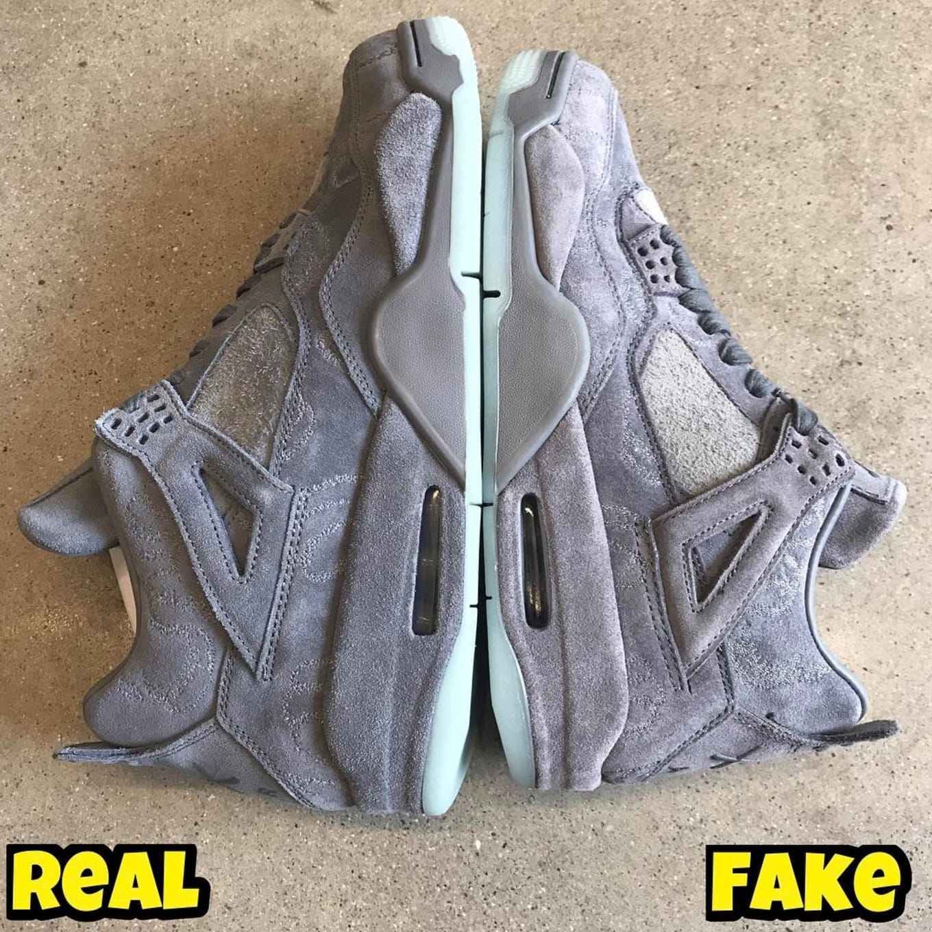 on sale c1f51 7ff69 Kaws x Air Jordan 4 Real Fake Legit Check | Sole Collector