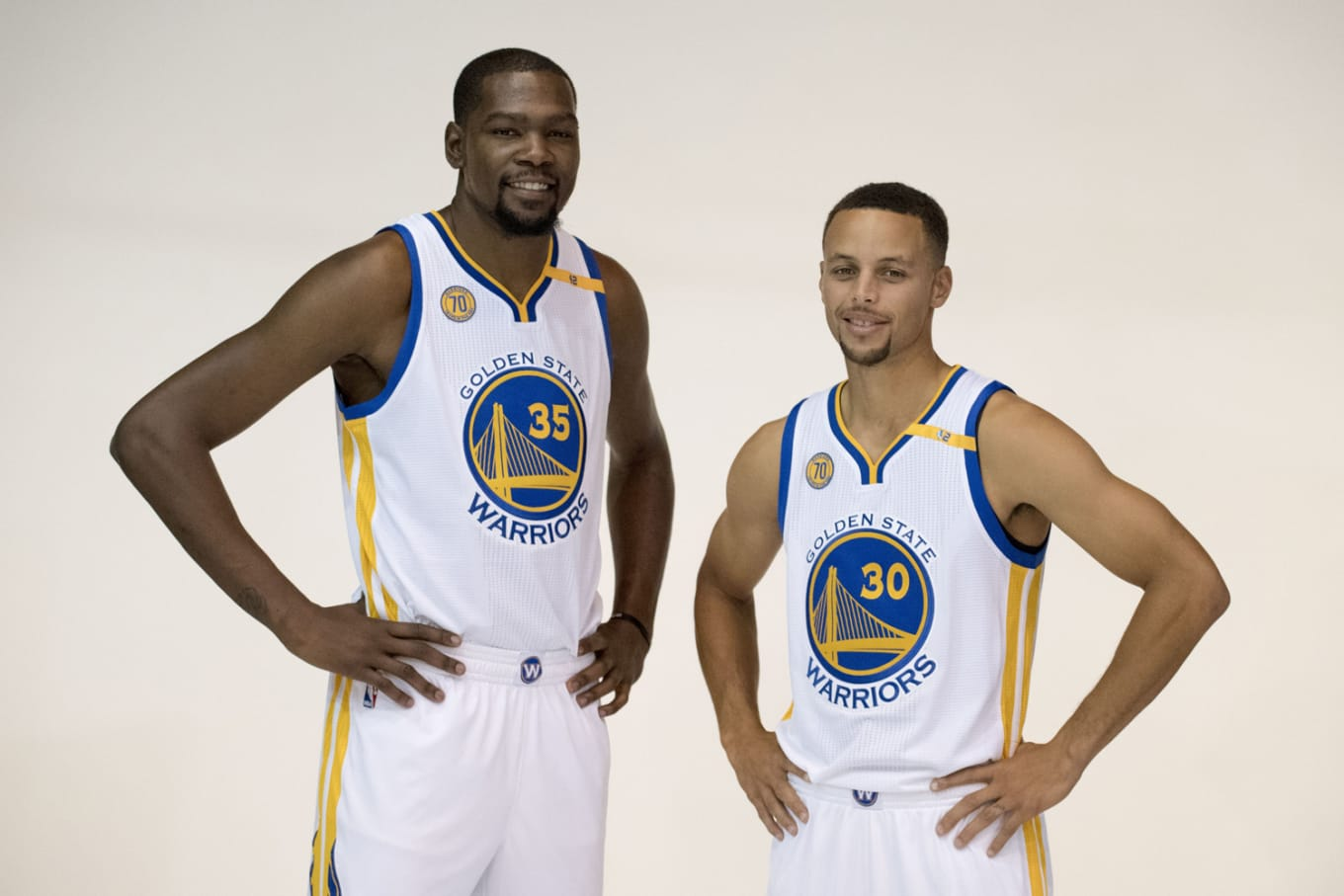 6a1496f5cb60 The two had a convo about sneakers when Durant joined the Warriors.