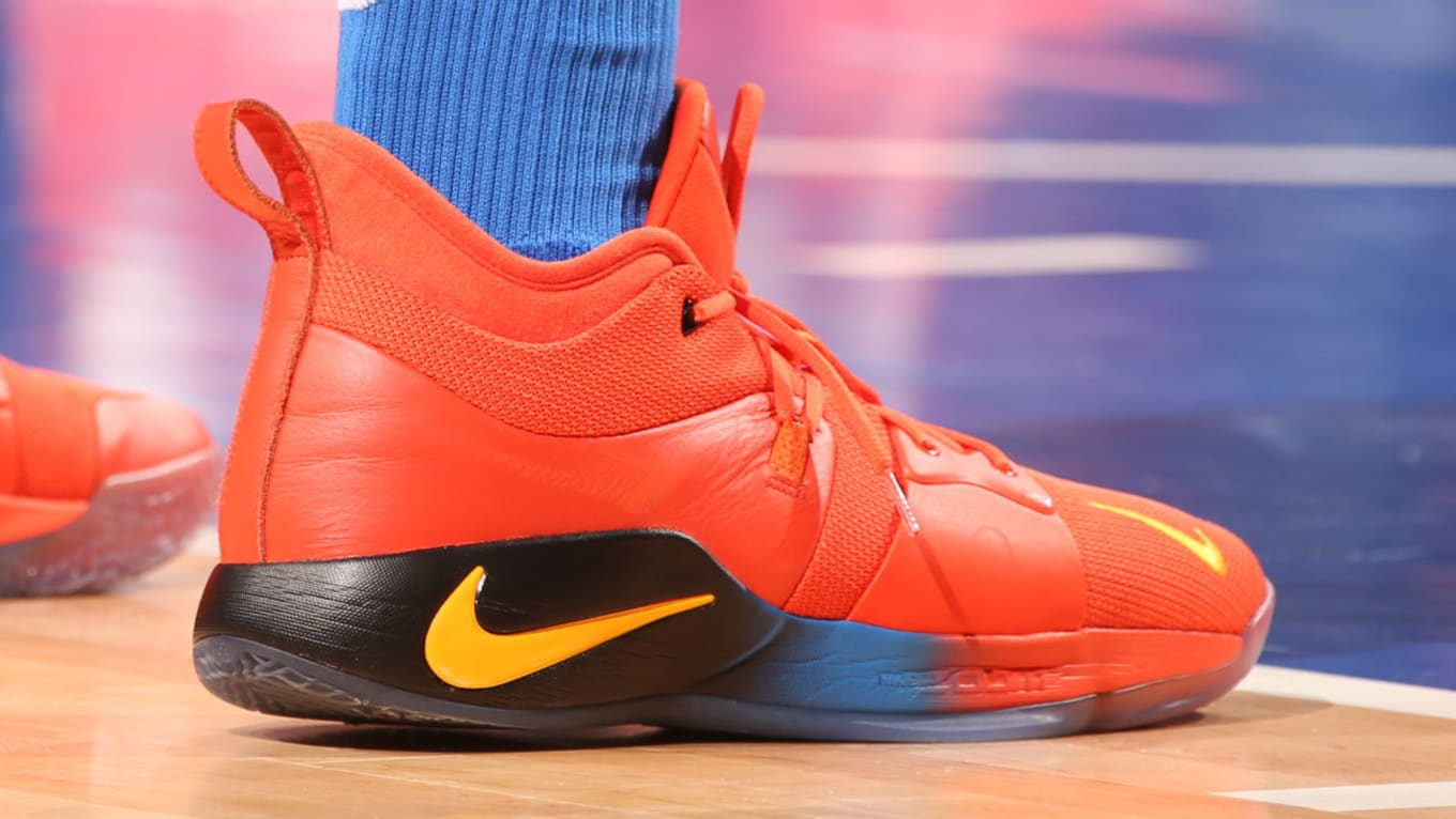 5a72858765a5 Paul George Nike PG2 Orange
