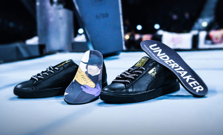 8d1ba93698c5ab Release info for the Foot Locker x Puma x WWE sneakers.
