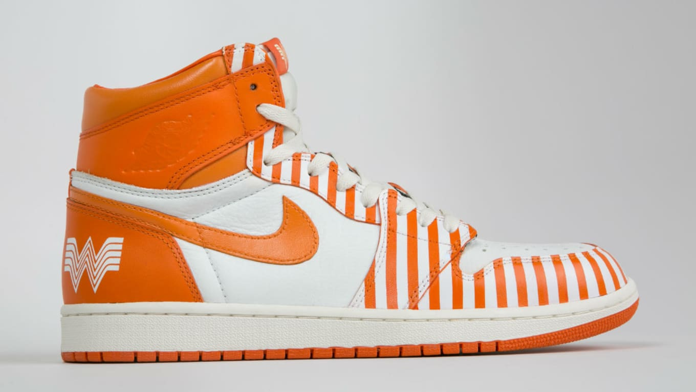 the latest b4d55 e39eb ... Whataburger Air Jordans. Custom Adidas also up for grabs.