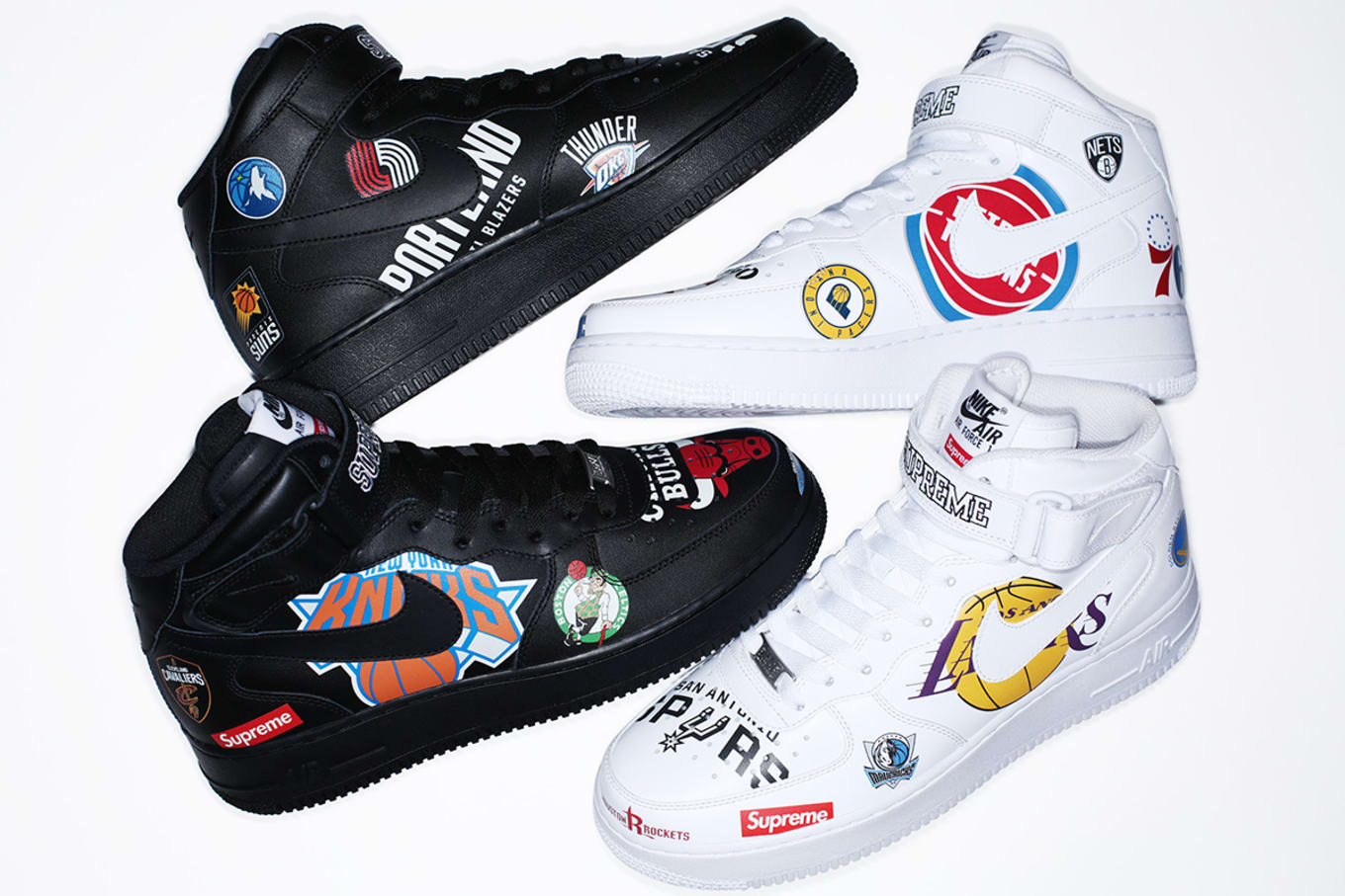 3dc2e5174f59 Supreme x Nike x NBA Collection Air Force 1 Mid  White  AQ8017-100 ...