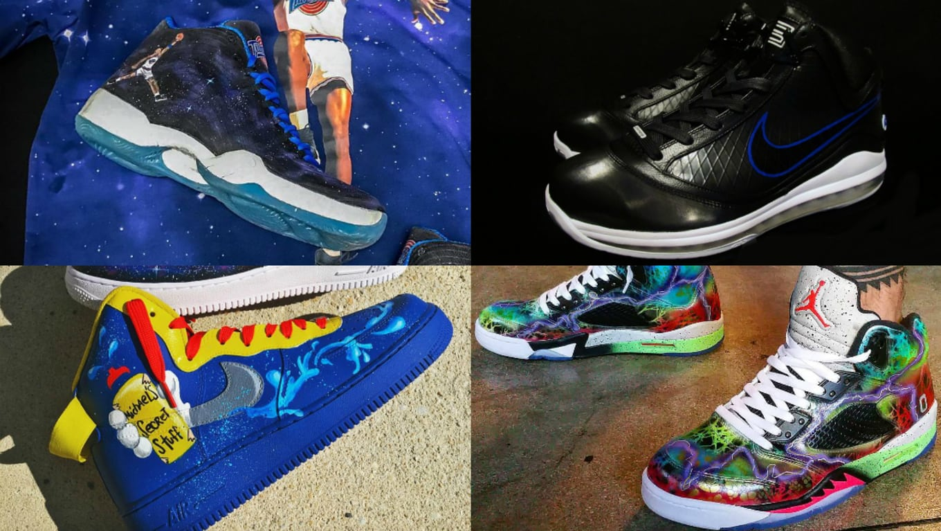 c36d58f2ca180 Space Jam Air Jordan Custom Sneakers