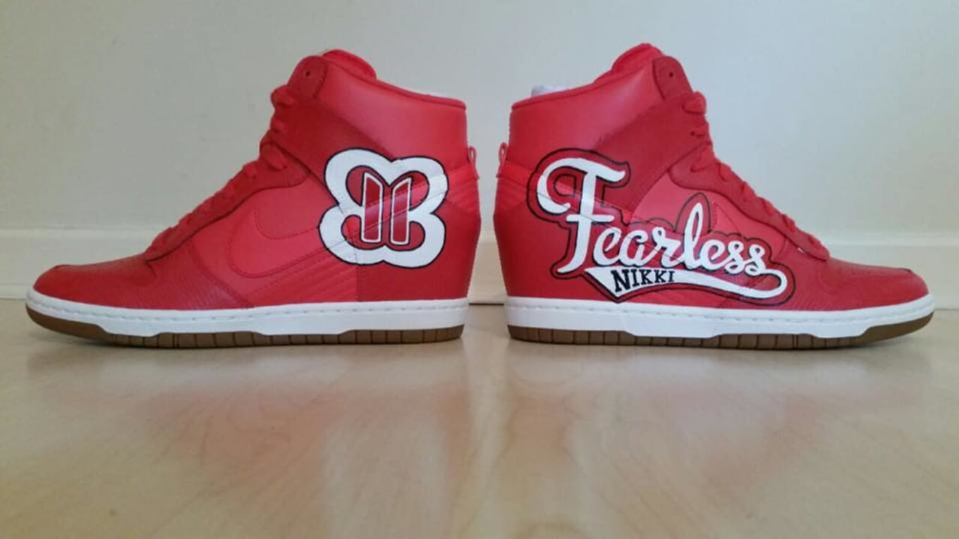 ffd31737db2f Nikki Bella x Nike Dunk Sky High by Slick Kicks