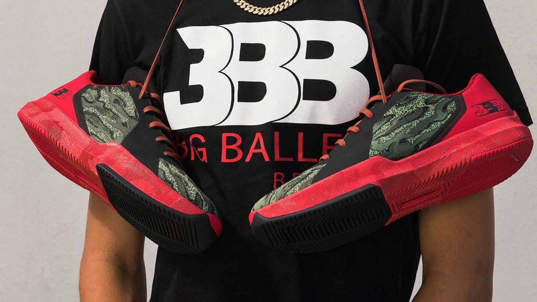 e5981f219887 Big Baller Brand Melo Ball 1 Rips off BrandBlack Rare Metal Thunder ...