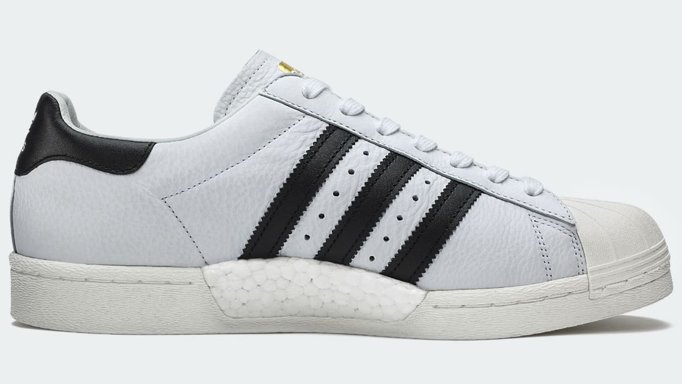 Details about Adidas Originals Superstar Boost Men's Leather Trainers White Black