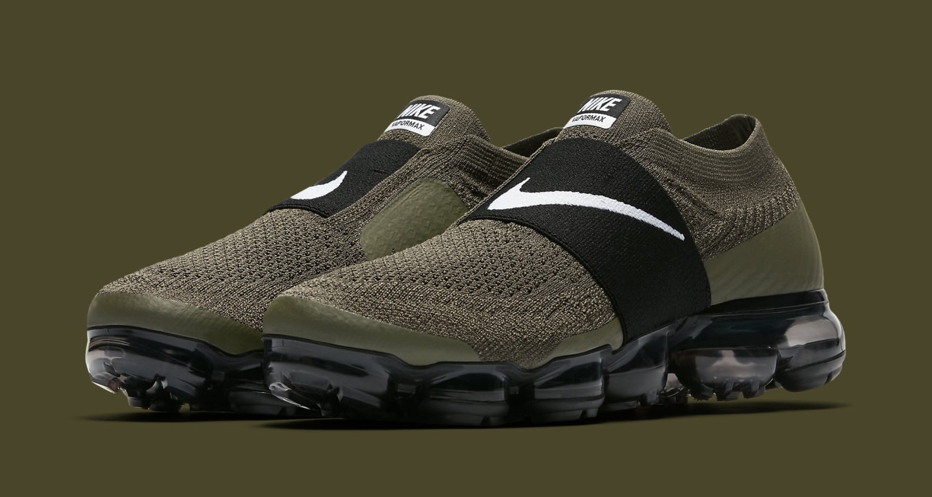 This Laceless Nike Air VaporMax Flyknit Moc Releases Soon. The olive pair  will be available on Nov. 16. d812ed96099e