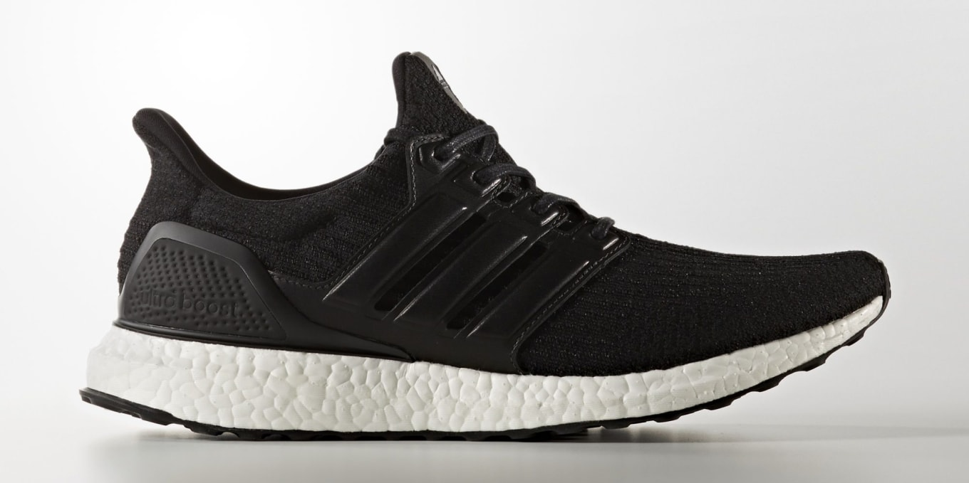 24f3d724d40 Black Adidas Ultra Boost Leather Cage BA8924