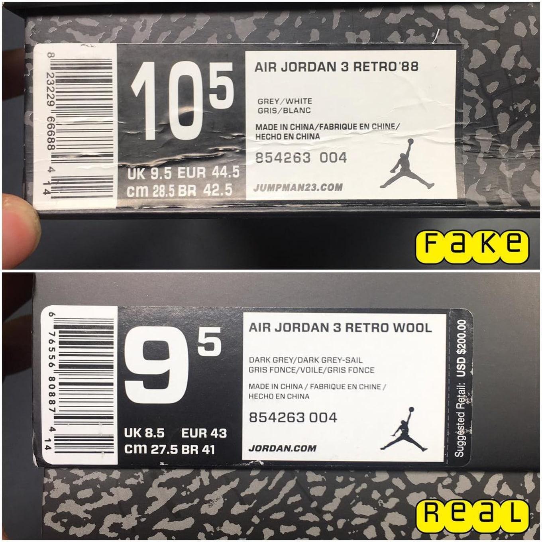 c96518e40d7fbb Wool Air Jordan 3 Real Fake Legit Check