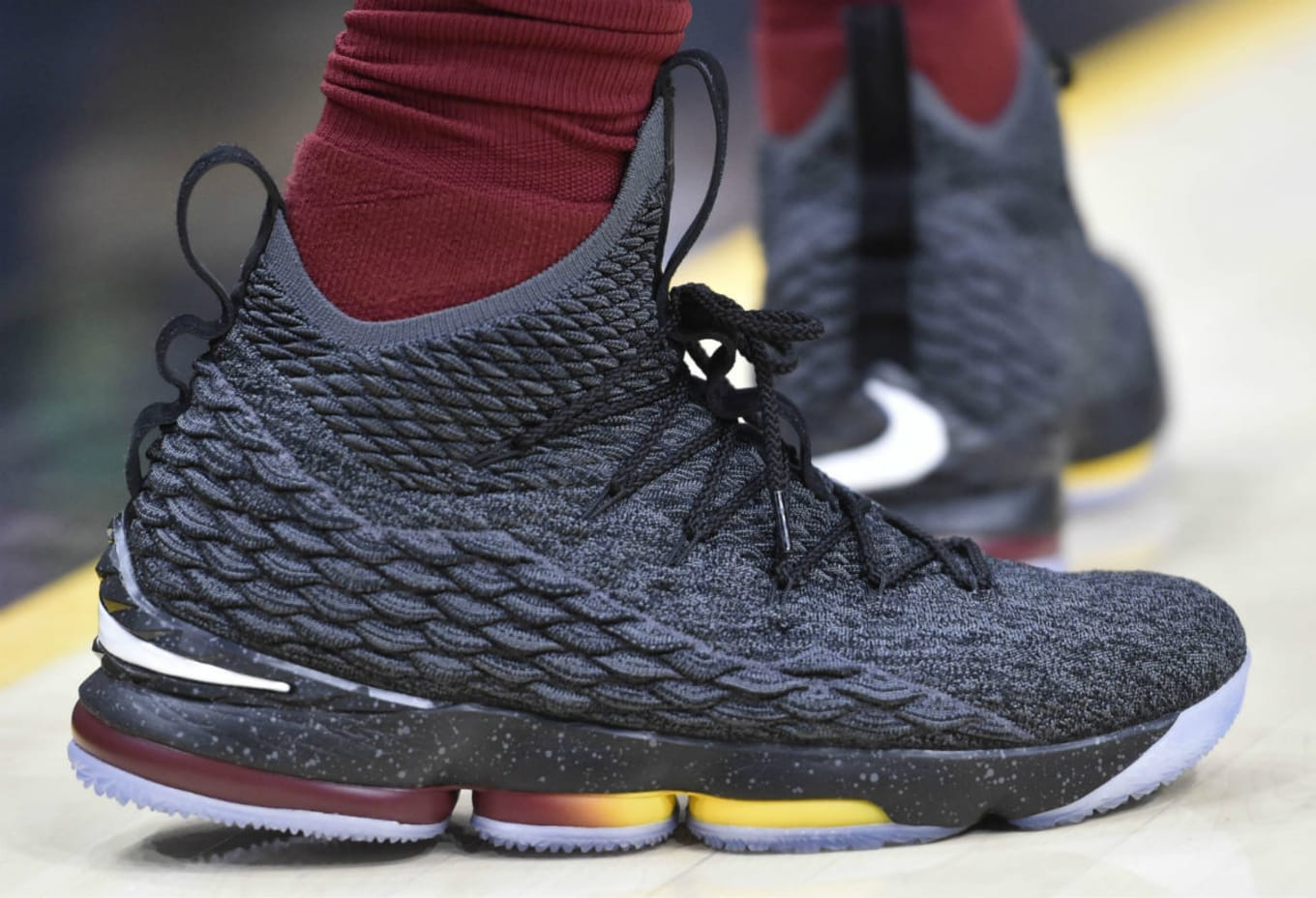 more photos 67534 72fd1  SoleWatch  LeBron James Wears Another  Cavs  Nike LeBron 15 PE