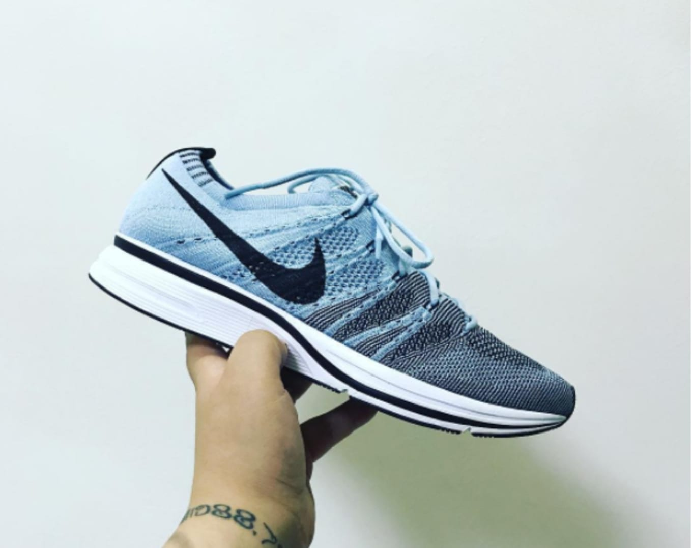 buy online 7cf79 d8231 Another Nike Flyknit Trainer Surfaces. A Cirrus Blue colorway for the end  of the summer.