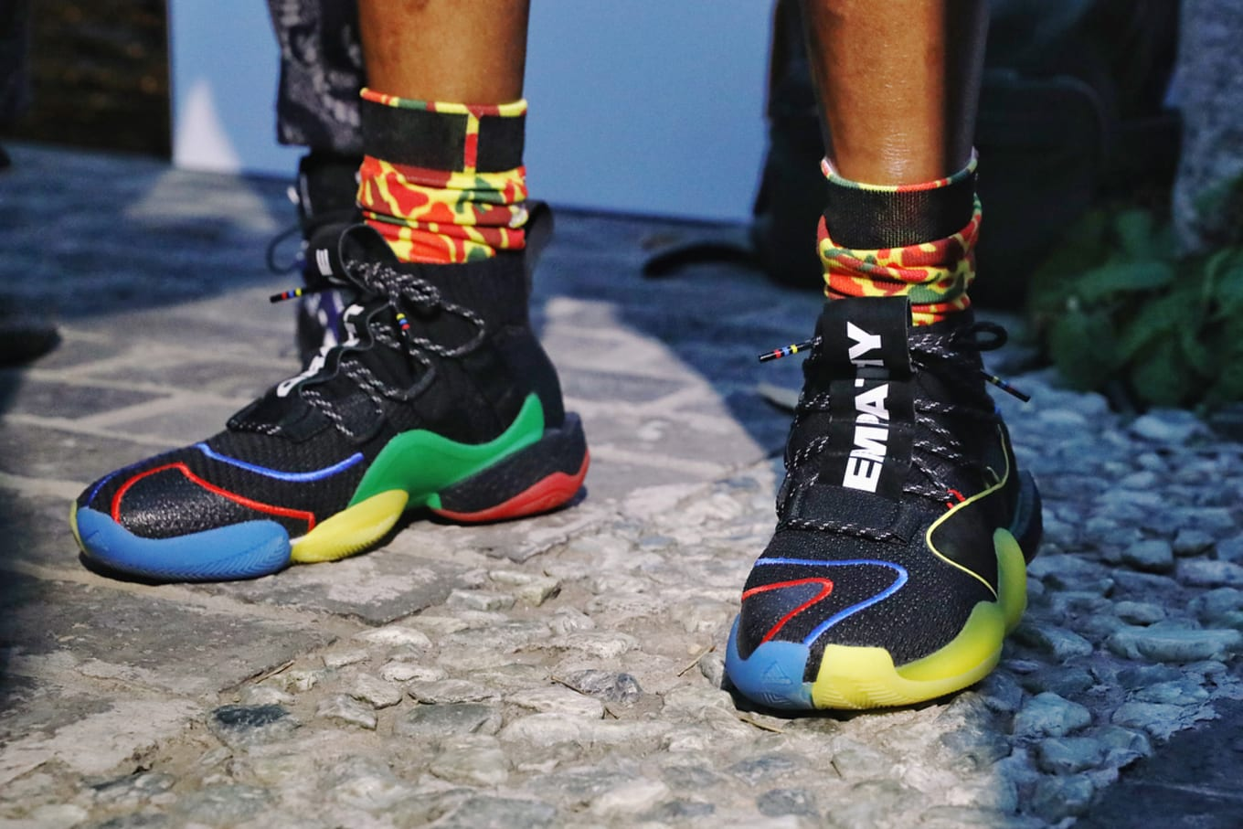 0d052d8a17167 Pharrell Debuts Colorful Adidas Crazy BYW X in China