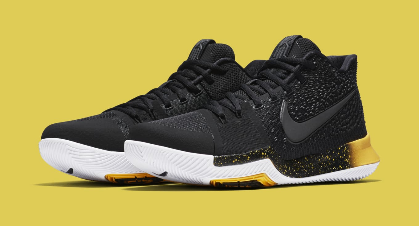 premium selection a4b7e b6c8e Nike Kyrie 3 Black/Yellow Release Date 852395-901 | Sole ...