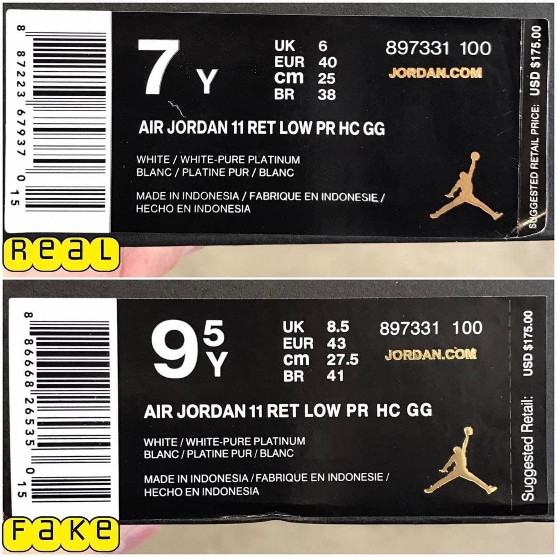 Air Jordan 11 Low Heiress White Real Fake Legit Check Box Tag Like Instagram 100 Indonesia Image Via