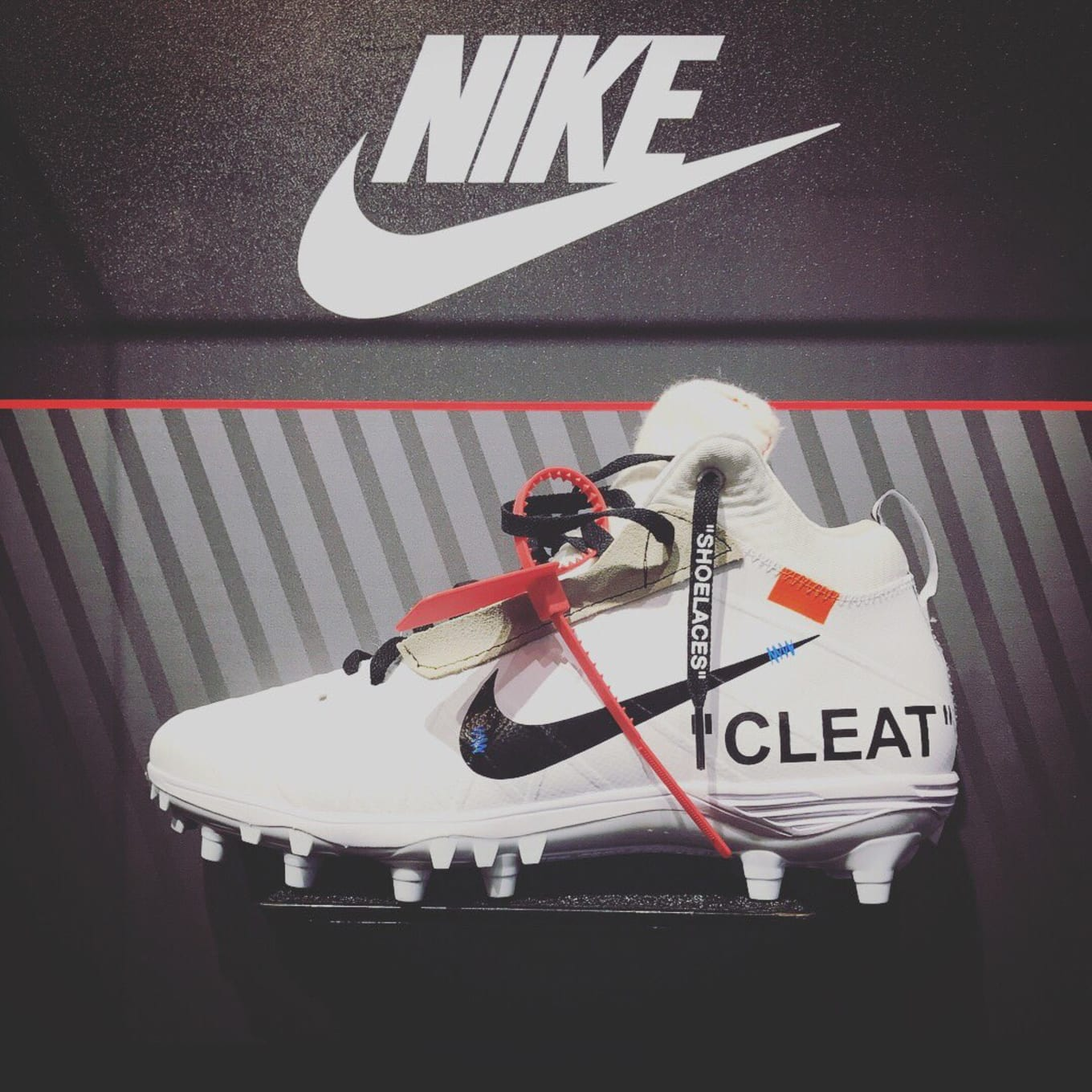 4e283ed1d An NFL Star's Cleats Were Given the Off-White Treatment. Michael Thomas  gets fashionable on the field.