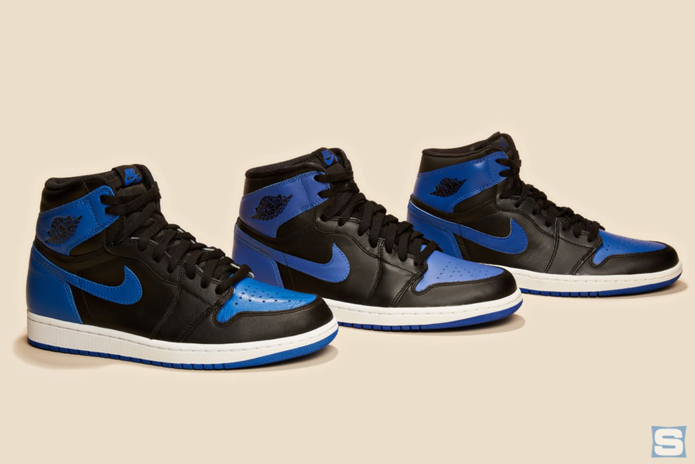 0cd7a3be2c53 A Comparison of Every  Royal  Air Jordan 1 Retro. 2001 vs. 2013 vs.