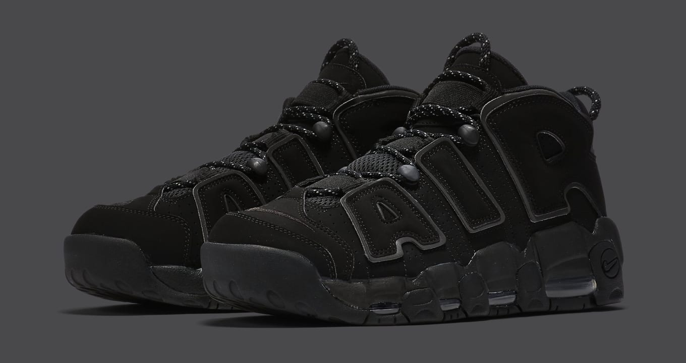 the best attitude 25555 1e31d Scottie Pippens Nike Air More Uptempo Retro Is Shining. Detailed look at  the blackreflective colorway.