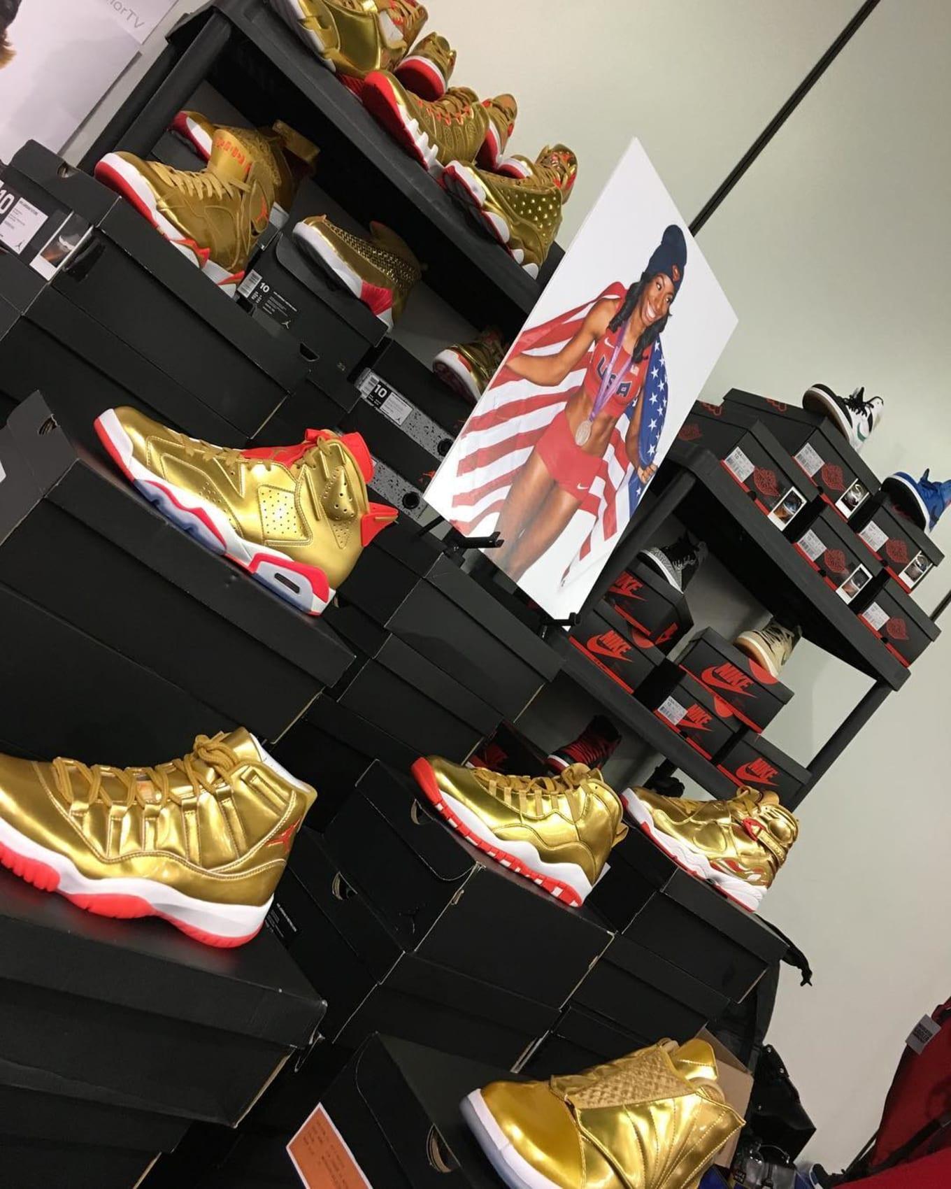 b47707093ac Brigetta Barrett Exclusive Gold Air Jordan Collection | Sole Collector