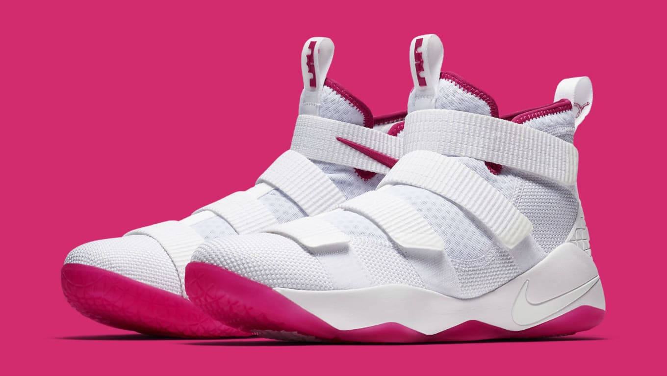 wholesale dealer e334e 2deed Nike LeBron Soldiers Ready to Battle Breast Cancer. The latest release in  the  Kay Yow  series.