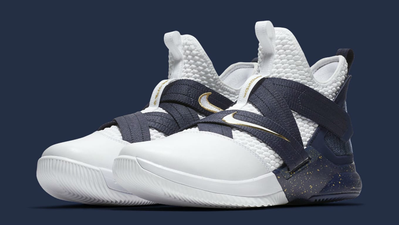 online store 417c4 65cc8 Nike LeBron Soldier 12 XII SFG White Navy Witness Release ...