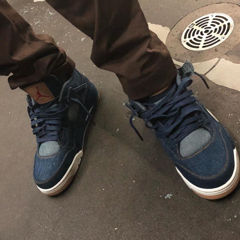 695daf534815cc Levi s x Air Jordan 4 IV Blue Denim Release Date AO2571-401