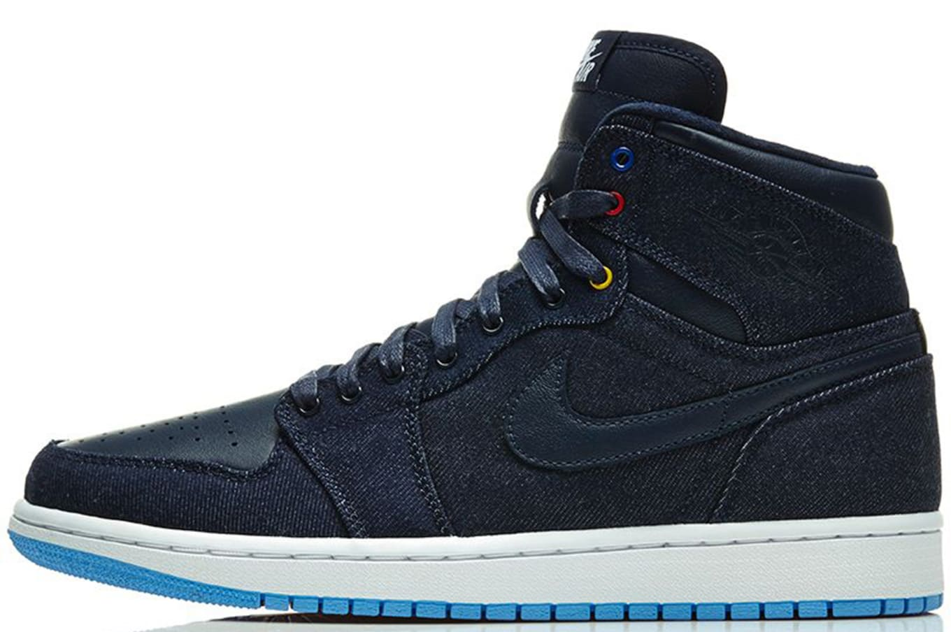 0d6b88328e3b Air Jordan 1 Retro High OG Obsidian White Dark Powder Blue Game Royal