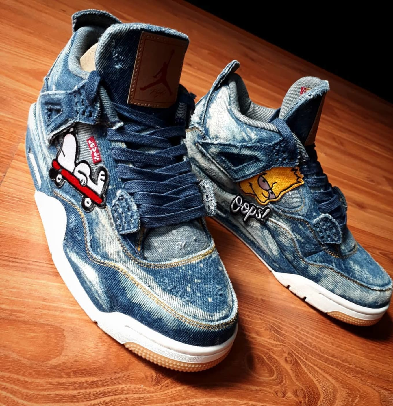 meet 4d253 ae62f Custom Levi's x Air Jordan 4 | Sole Collector
