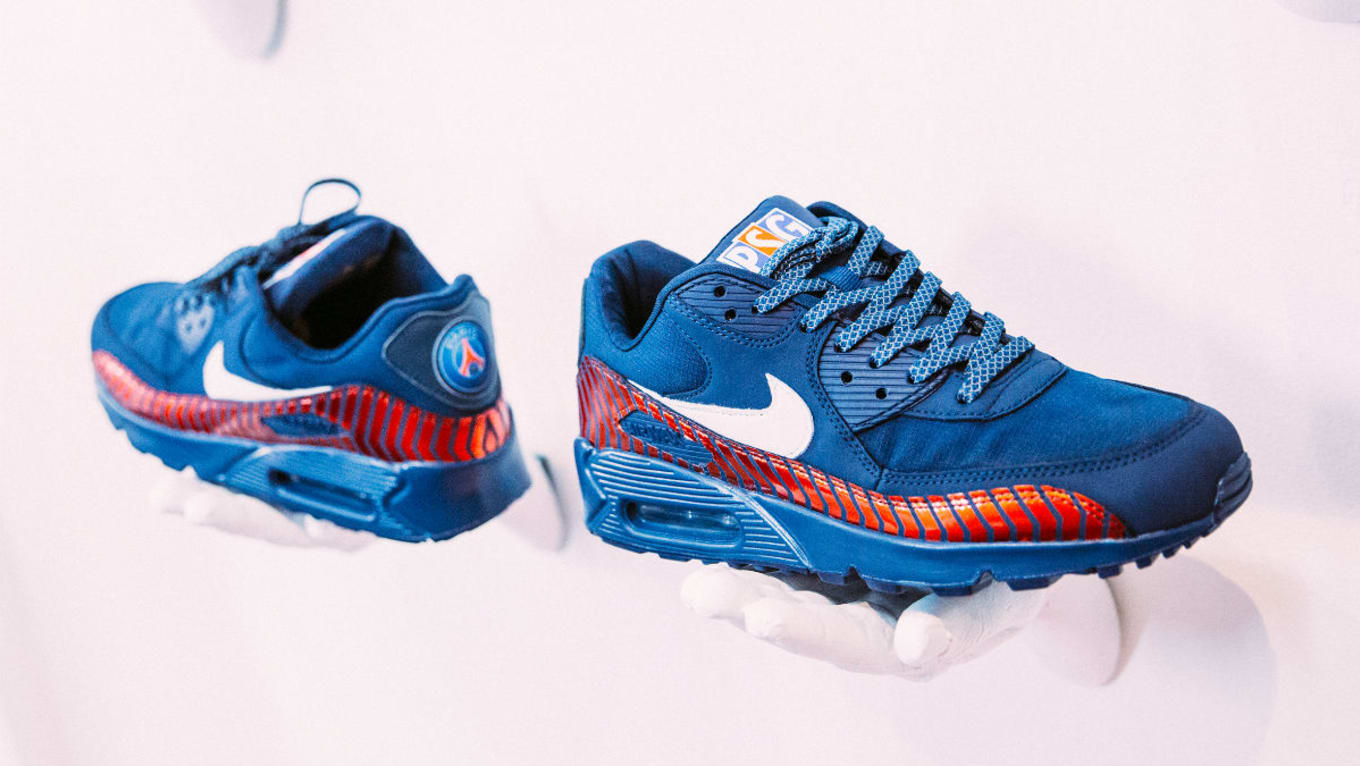 timeless design 27a8d cadd5 PSG x Nike Air Max 90 Custom for 2017 Miami Preseason Tour ...