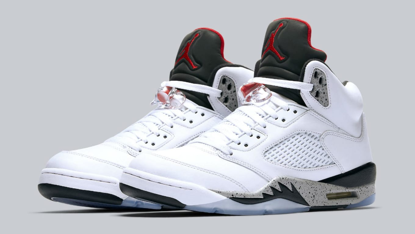 half off f0f6a ca614 Air Jordan 5 White Cement Release Date136027-104 | Sole ...