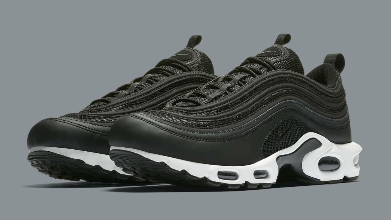 d9e336c5f86 Nike Air Max Plus 97 Black White Release Date Main AH8143-001
