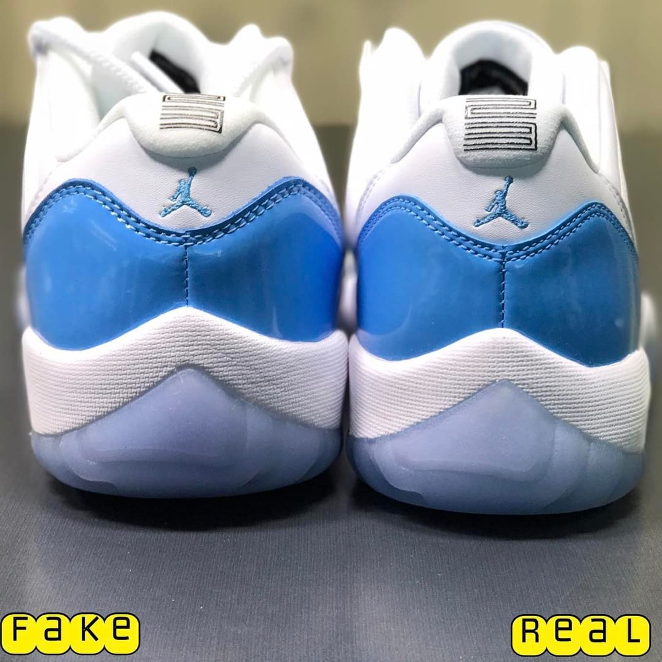 buy online 76af4 d48fd Air Jordan 11 Low UNC Real Fake Legit Check | Sole Collector