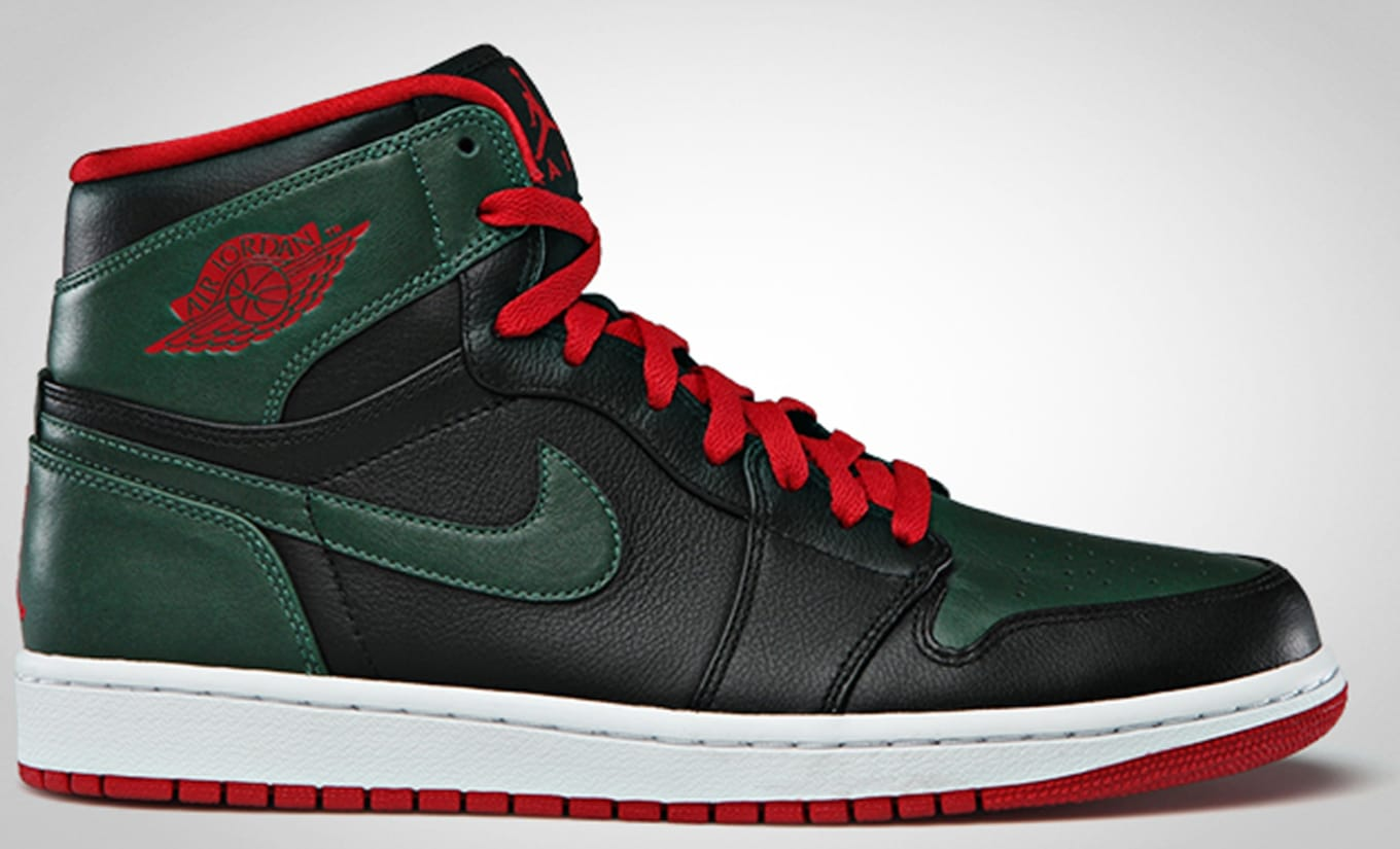 lowest price 4e6f2 da2cb Air Jordan 1 Retro High Black Gym Red Gorge Green White